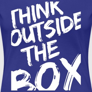 Think Outside The Box T-shirts - Dame premium T-shirt