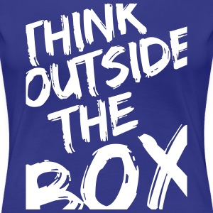 Think Outside The Box T-skjorter - Premium T-skjorte for kvinner