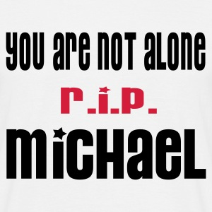 YOU ARE NOT ALONE MICHAEL - HEART AND WINGS by THEBADASSTEE.COM  - Men's T-Shirt