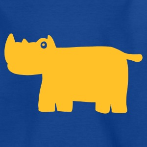 Royalblau Nashorn Kinder T-Shirts - Teenager T-Shirt