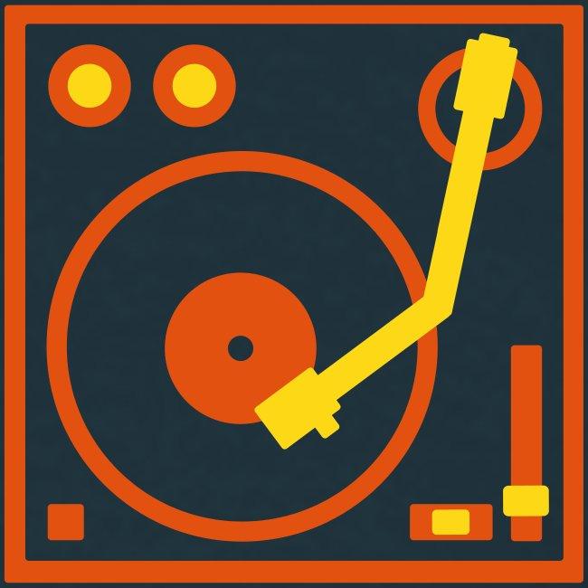 I DJ - classic Small Turntable Logo on the left, 2 color flex