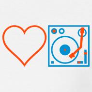 Design ~ I DJ - Love DJ - Heart DJ - 2 color FLOCK print