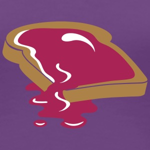 A slice of bread with jam T-Shirts - Women's Premium T-Shirt