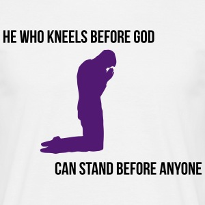 Kneel before god - Men's T-Shirt