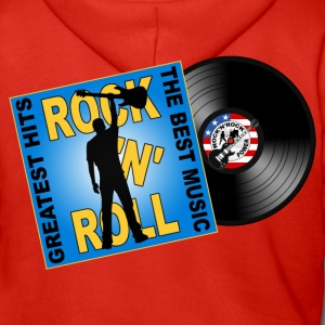 Rock 'n' Roll design 05 Hoodies & Sweatshirts - Men's Premium Hooded Jacket