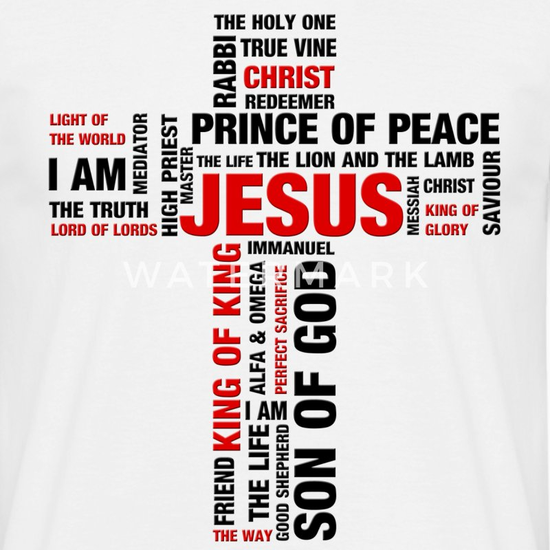 Jesus' names on cross shape - Men's T-Shirt