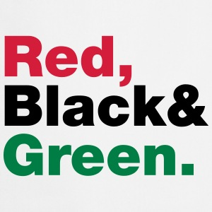 Red, Black & Green. Aprons - Cooking Apron
