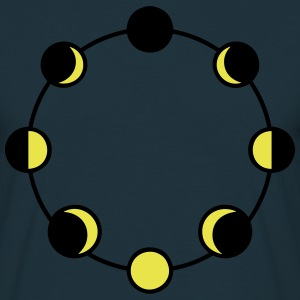 lune lunaire cycle de phases Tee shirts - T-shirt Homme