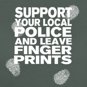 Support The Police - Leave Fingerprints White T-Shirts - Frauen Bio-T-Shirt