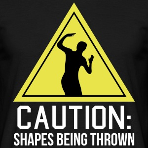 caution shapes being thrown Camisetas - Camiseta hombre