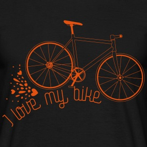 I love my bike - Männer T-Shirt