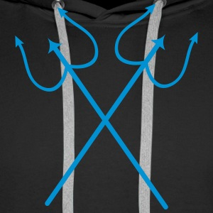 Aquarius Poseidon Trident 1C. Sweat-shirts - Sweat-shirt à capuche Premium pour hommes