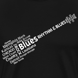 Blues tag cloud T-Shirts - Männer Premium T-Shirt