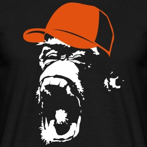Monkey with baseball cap  T-Shirts - Men's T-Shirt