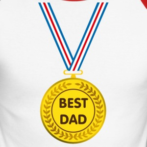 best dad Long sleeve shirts - Men's Long Sleeve Baseball T-Shirt