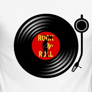 Rock 'n' Roll record player Long sleeve shirts - Men's Long Sleeve Baseball T-Shirt