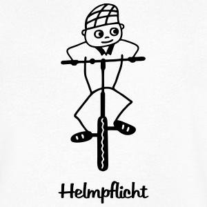 Helmpflicht - cycliste - T-shirt Homme col V
