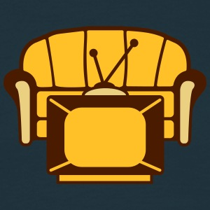 Couch And TV T-shirts - Herre-T-shirt