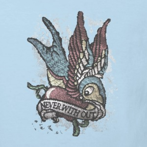 Tattoo bird vintage distressed patjila T-Shirts - Kinder Bio-T-Shirt