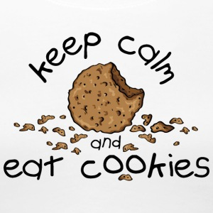 Weiß Keep calm and eat cookies T-Shirts T-Shirts - Frauen Premium T-Shirt