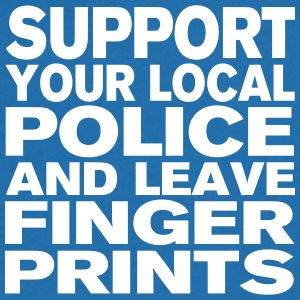 Support Your Local Police - Leave Fingerprints T-Shirts - Männer T-Shirt mit V-Ausschnitt
