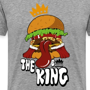 Heather grey burger T-Shirts - Men's Premium T-Shirt