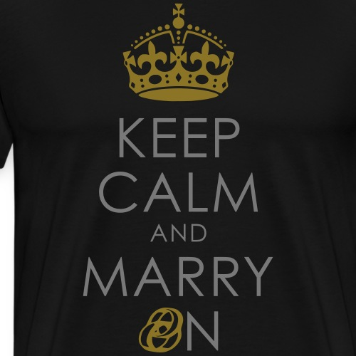 KEEP CALM AND MARRY ON - RING + KRONE