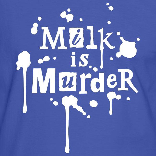 Mens Kontrast-Shirt 'MILK is Murder' WBlue