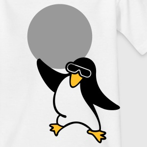 Weiß disco Pinguin / penguin (2c) Kinder T-Shirts - Teenager T-Shirt