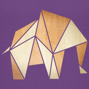 Origami: Elefant (Pergament-Optik) T-Shirts - Teenager Premium T-Shirt