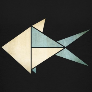 Origami: Fish (parchment paper look) Shirts - Teenage Premium T-Shirt