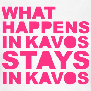 What Happens In Kavos T-shirts - Vrouwen T-shirt