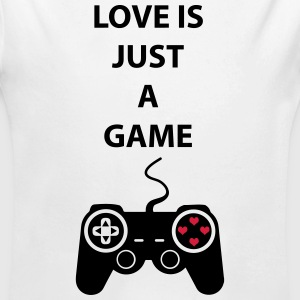Love is just a game 2c Sweats - Body bébé bio manches longues
