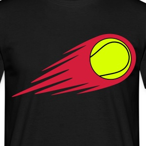 tennisbal fireball T-shirts - Mannen T-shirt