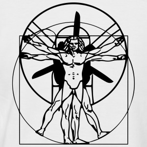 da Vinci Vitruvian Man Short arm - Men's Baseball T-Shirt