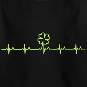 Irischer Puls / four-leafed clover beat (1c) T-Shirts - Teenager T-Shirt