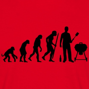 BBQ evolutie Barbecue T-shirts - Mannen T-shirt