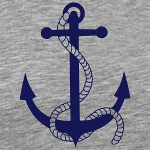 anchor harbour ship port sea sailor seaman sailing T-Shirts - Men's Premium T-Shirt