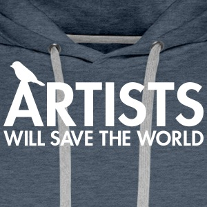 Artists will save the world Sweat-shirts - Sweat-shirt à capuche Premium pour hommes