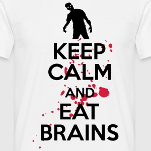 Keep calm and eat brains Tee shirts - T-shirt Homme