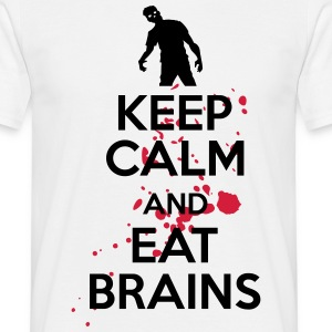 Keep calm and eat brains T-shirts - Mannen T-shirt