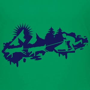 Sled dog race Graffiti Shirts - Kids' Premium T-Shirt