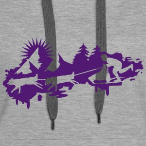 Sled dog race Graffiti Hoodies & Sweatshirts - Women's Premium Hoodie