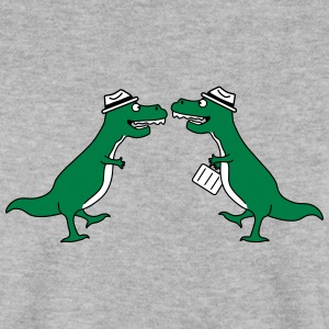 Two Welcome Handshake Businessman T-Rex Pullover & Hoodies - Männer Pullover