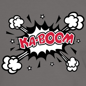 KABOOM, comic speech bubble, cartoon, word balloon T-shirts - Mannen contrastshirt