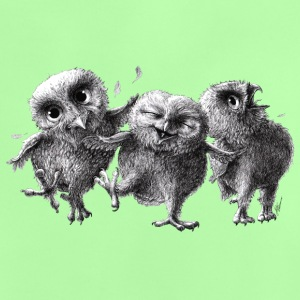 three crazy owls - Baby-T-shirt