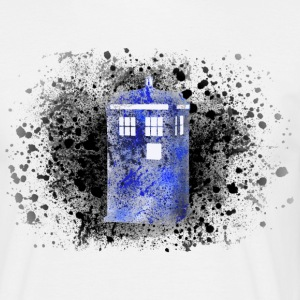 Tardis Paint Splatter - Men's T-Shirt