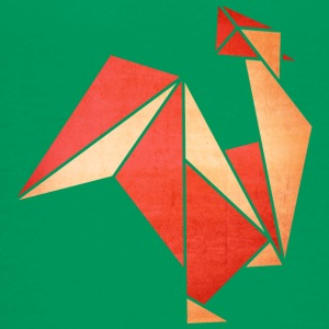 Origami: Hahn (Pergament-Optik) T-shirts - Børne premium T-shirt