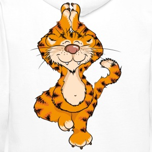 The tiger has practiced Yoga Tree and sings the OM Hoodies & Sweatshirts - Men's Premium Hoodie