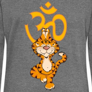 The tiger has practiced Yoga Tree and singing the  Hoodies & Sweatshirts - Women's Boat Neck Long Sleeve Top